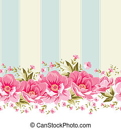 Ornate pink flower border with tile.