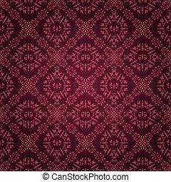 Ornate purple tile vintage wallpaper design