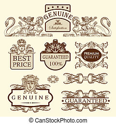ornate royal luxury premium quality and guarantee label...