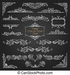Ornate scroll elements collection