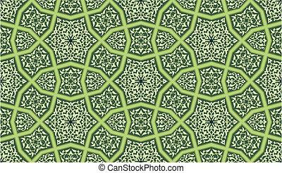 ornate, seamless, padrão