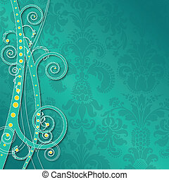 ornate swirl background