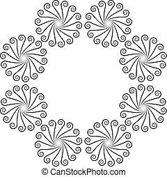 Ornate swirl design