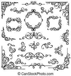 Ornate swirl frames headers and scroll elements