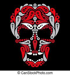 Ornate tattoo skull