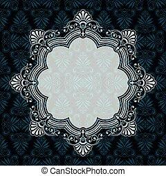 Ornate vector border frame on textured background