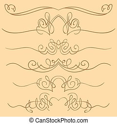 vector set of borders. Hand drawing