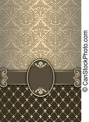 Ornate vintage background with decorative border.