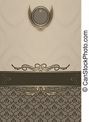Ornate vintage background with decorative patterns.