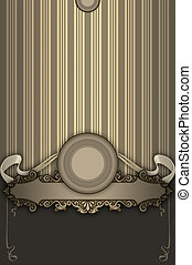 Ornate vintage background with elegant frame.