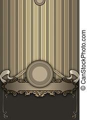 Ornate vintage background with elegant frame.
