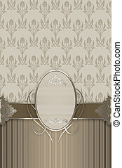 Ornate vintage background with frame.
