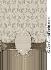 Ornate vintage background with frame.