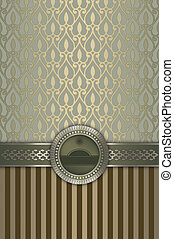 Ornate vintage background with decorative patterns.