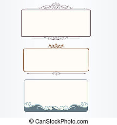 Ornate vintage frame set