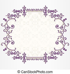Ornate vintage frame set with all elements in separate...