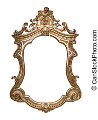 Ornate vintage frame with clipping