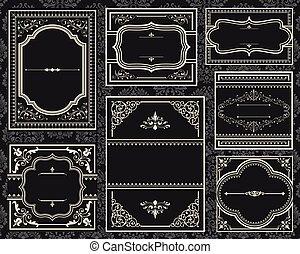 Ornate Vintage Frames - Set of Ornate vector frames. Each ...