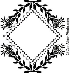 Ornate wallpaper flowers, for decorative greeting card. Vector