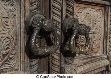 Ornate wooden doors