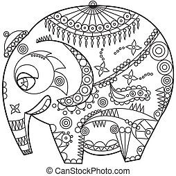 ornated, elefante