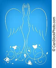 ornement, ange
