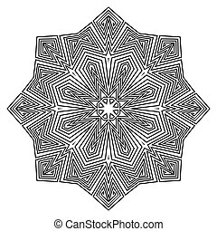ornement, mandala., pattern., rond