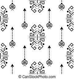 ornement, tribal, pattern., seamless, vecteur, ethnique