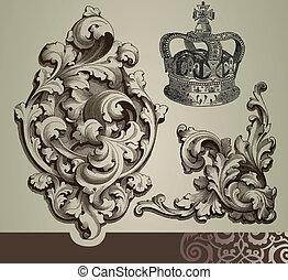 ornements, baroque