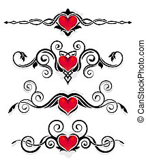 ornements, valentin