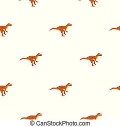 Ornithopod dinosaur pattern seamless