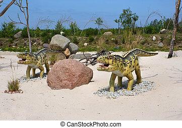 Ornithosuchus. Model of dinosaur.