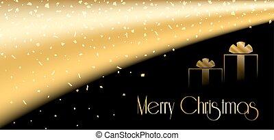 oro, árbol, plano de fondo, año, nuevo, navidad, feliz