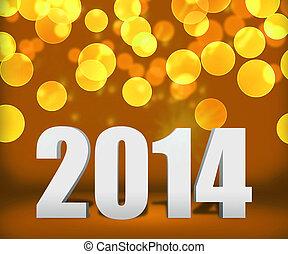 oro, año, plano de fondo, nuevo, 2014, etapa
