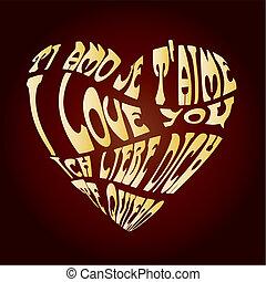 oro, amor, tarjeta