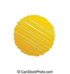 oro, astratto, illustrazione, fondo, vettore, cerchio, scarabocchio