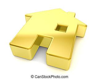oro, casa, simbolo