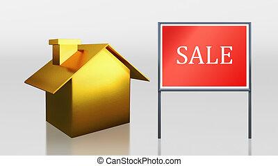 oro, casa, vendita