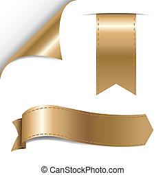 oro, cintas, conjunto