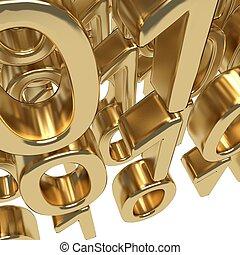 oro, codice binario