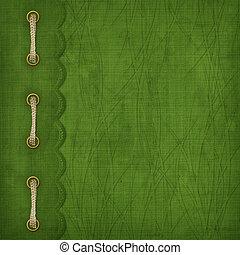 oro, diseño, cubierta, s., braid., clip, patrick's, día, ...