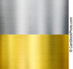 oro, e, argento, metallo, spazzolato, tessiture