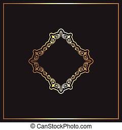oro, elegante, diseño, plano de fondo, negro, 1005