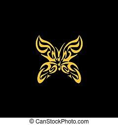 oro, farfalla