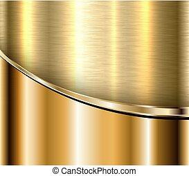 oro, fondo, metallico
