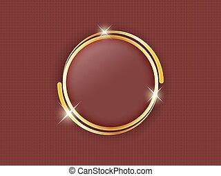 oro, fondo., testo, spazio, scuro, mezzo, anello