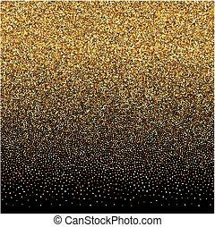 oro, gradiente, textura, fondo negro, fondo