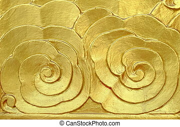 oro, intagliato, su, door.