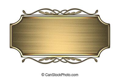 oro, letrero nombre