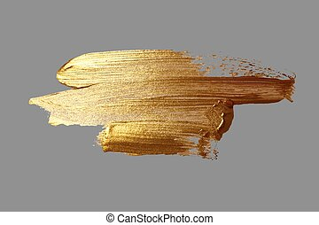 oro, mano, pintura, golpe, cepillo, dibujo